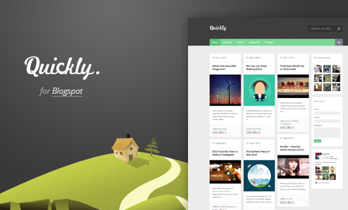 Quickly Responsive Blogger Template