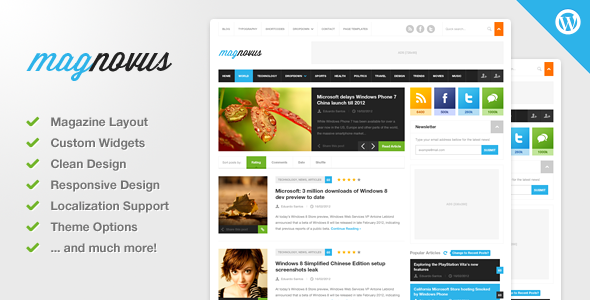 Download Magnovus v1.3.1 – Magazine & News WordPress Theme -