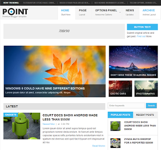 Point-blogger-template