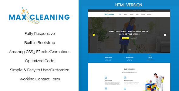 Max clean cleaning business html template max clean cleaning business html template flashek Choice Image