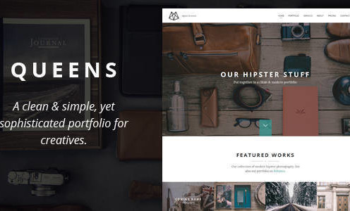 queens-creative-one-page-drupal-theme